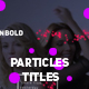 Modern Colored Particles Titles - VideoHive Item for Sale