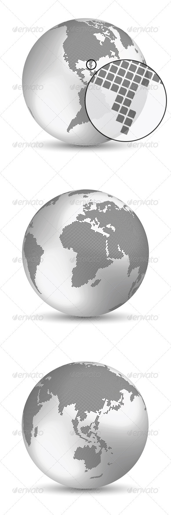 Silver Digital Earth Concept - Concepts Business