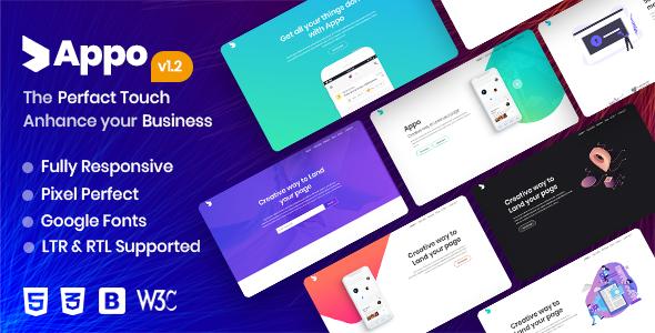 Excellent Appo - App Landing Page