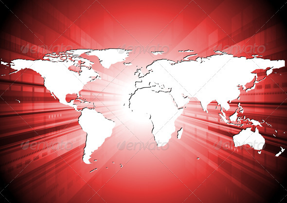 Abstract world map design - Backgrounds Decorative