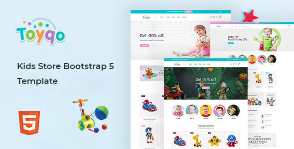 Toyqo – Kids Store Bootstrap 5 Template