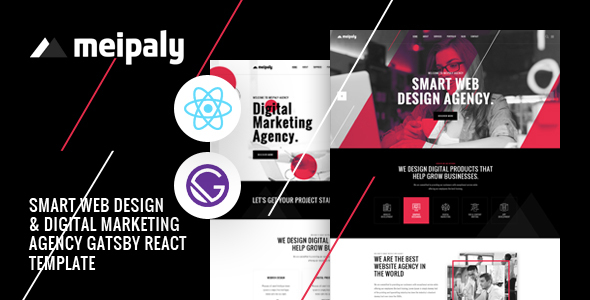 Meipaly - Gatsby React Digital Services Agency Template