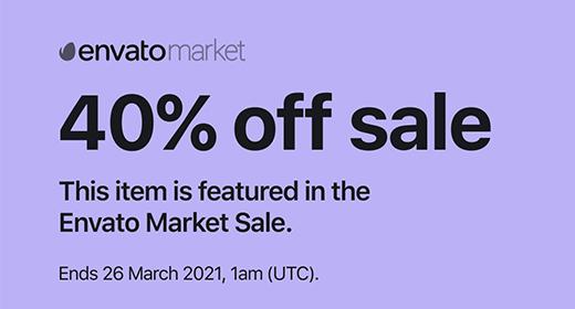 March sale 40%