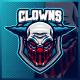 Blue Clown - Mascot & Esport Logo
