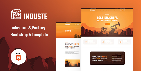 Induste – Industrial & Factory Bootstrap 5 Template