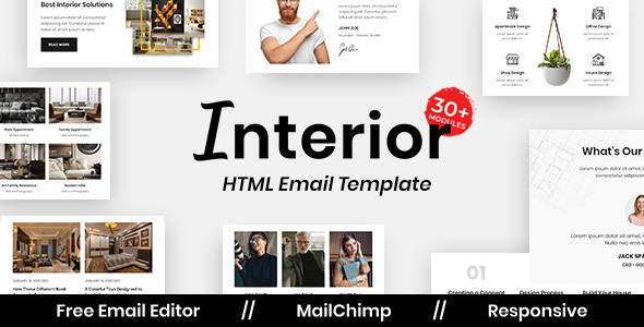Interior design - Multipurpose Responsive Email Template