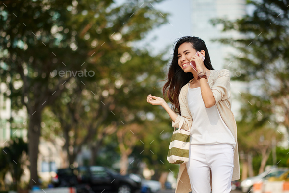 Cheerful lady - Stock Photo - Images