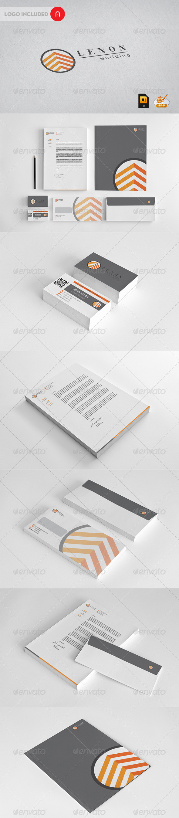 Corporate Identity - Lenon Building - Stationery Print Templates