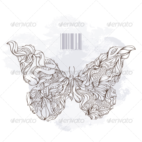 Bizarre Butterfly - Decorative Symbols Decorative