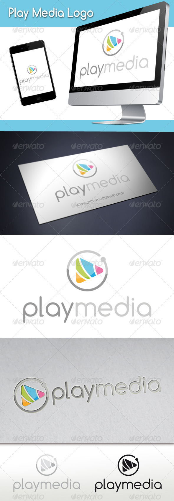 Play Media Logo - Vector Abstract