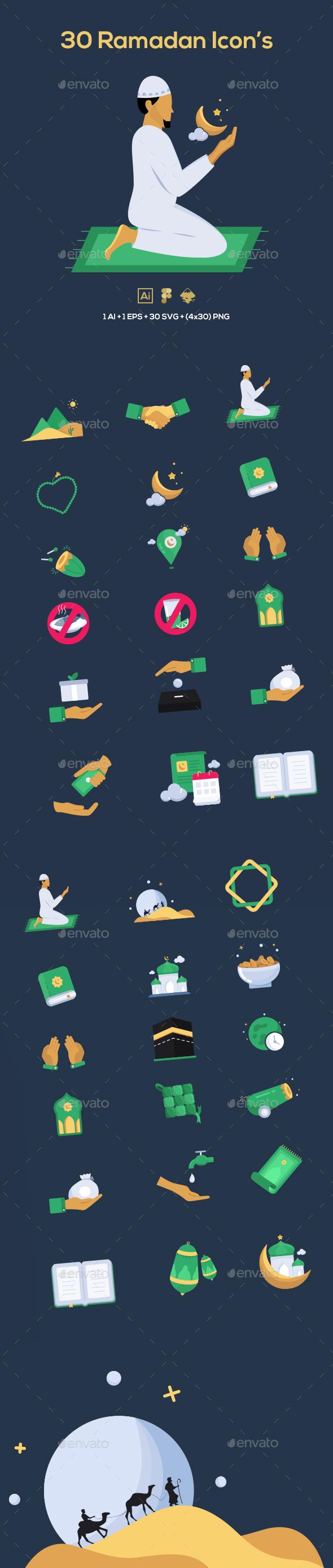 30 Ramadan Icons