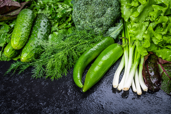 fresh organic vegetables. Healthy food. Vegetable - Stock Photo - Images