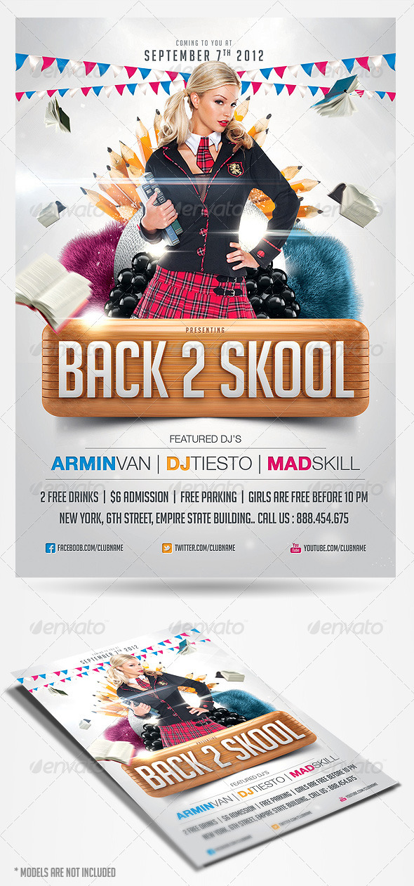 Back To School Party Flyer Template By Saltshaker911 | Graphicriver