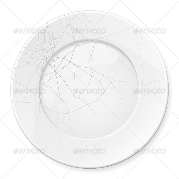 Broken Plate - Man-made Objects Objects