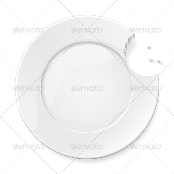 Abstract bitten plate - Abstract Conceptual