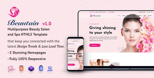 Beautain | Multipurpose Beauty Salon and Spa HTML5 Template