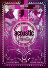 03 acoustic music flyer burgundy.  thumbnail