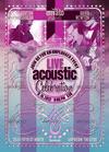 04 acoustic music flyer burgundy variation.  thumbnail