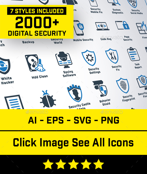 2240 Digital Security Icons