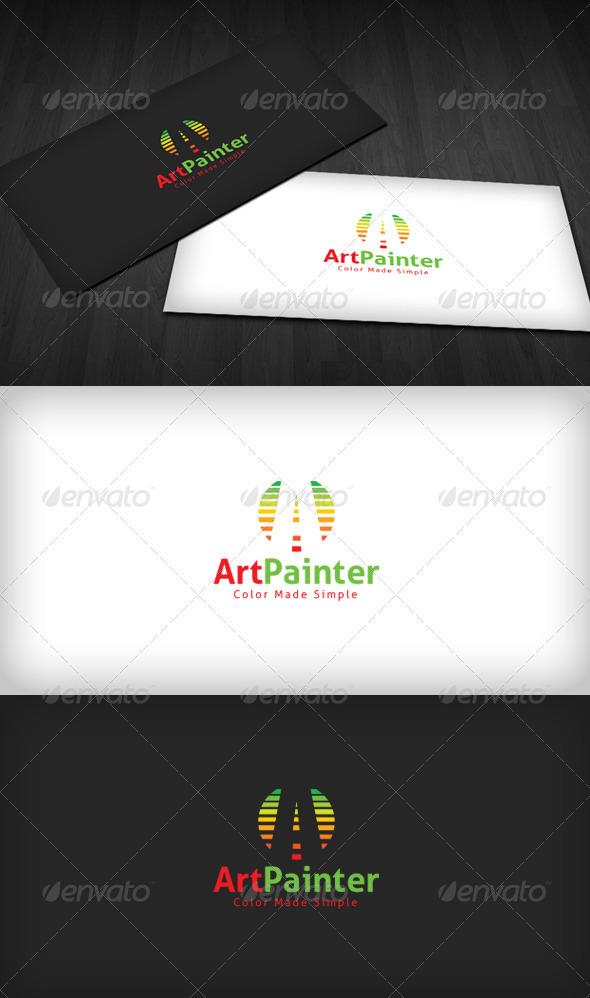 Art Painter Logo - Letters Logo Templates