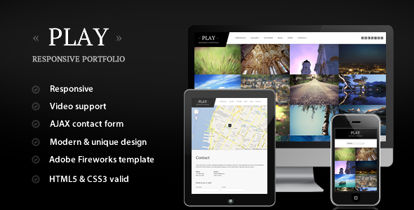 Incredible Play - Responsive Portfolio