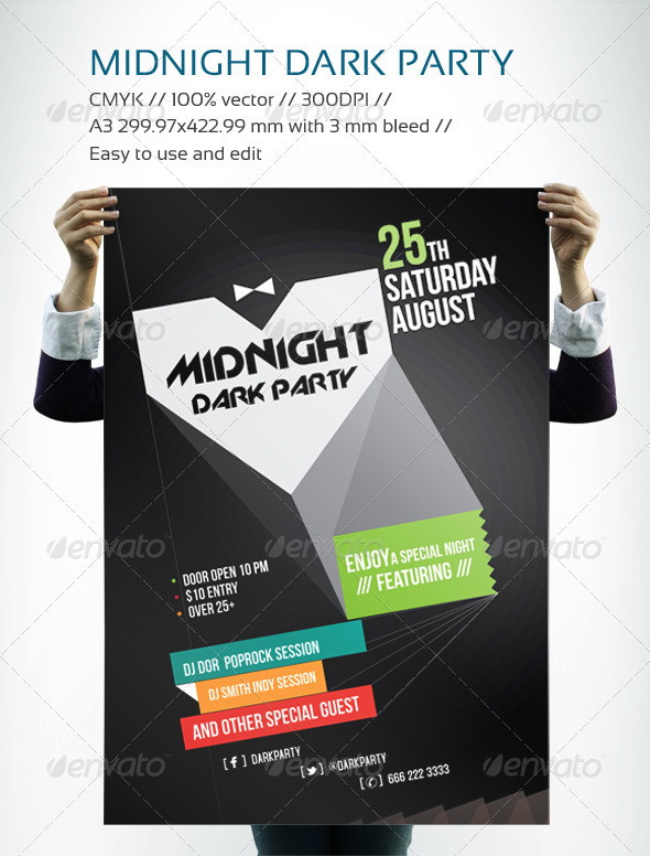 MIDNIGHT DARK PARTY - Clubs & Parties Events