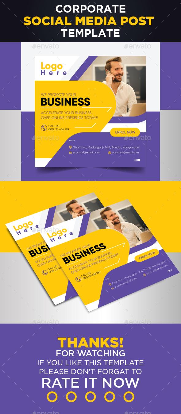 Corporate Social Media Post Design