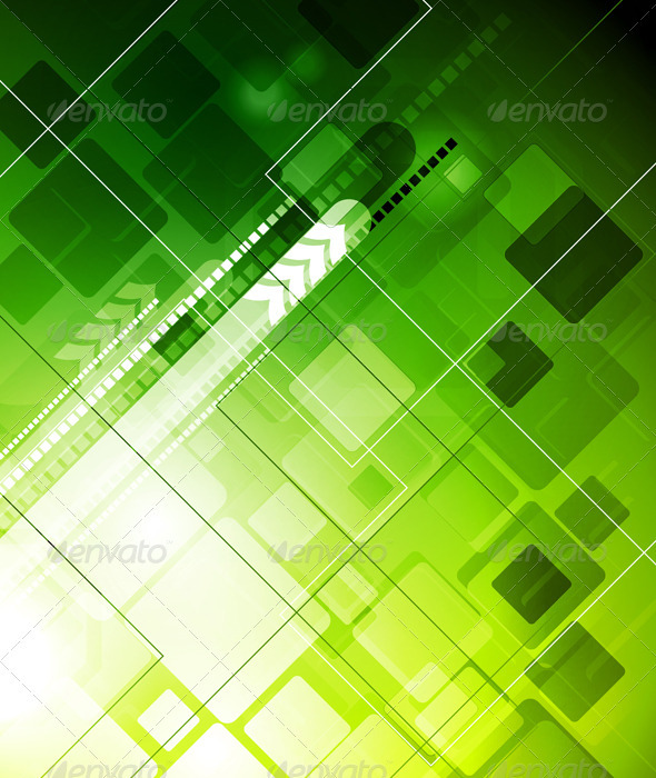 Technology green backdrop - Abstract Conceptual