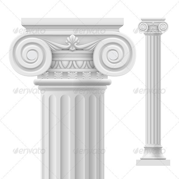 Roman column - Backgrounds Decorative