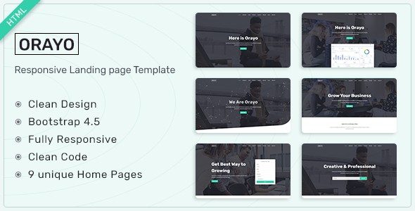 Orayo - Responsive Landing Page Template