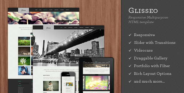 Glisseo – Responsive Multipurpose HTML Template
