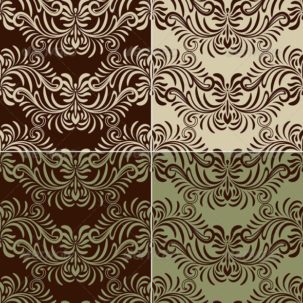 4 Vectro Seamless Vintage Pattern - Patterns Decorative