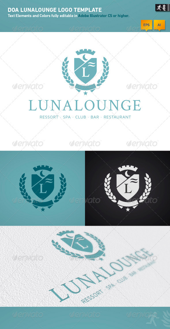 DOA Lunalounge Logo Template - Crests Logo Templates