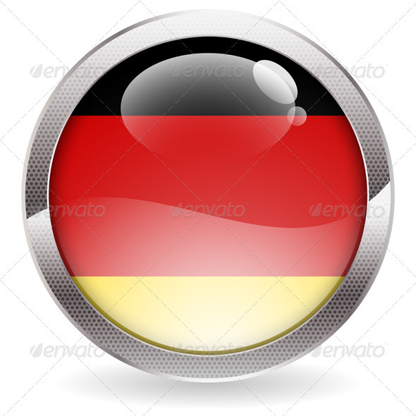 Gloss Button with German Flag - Web Technology