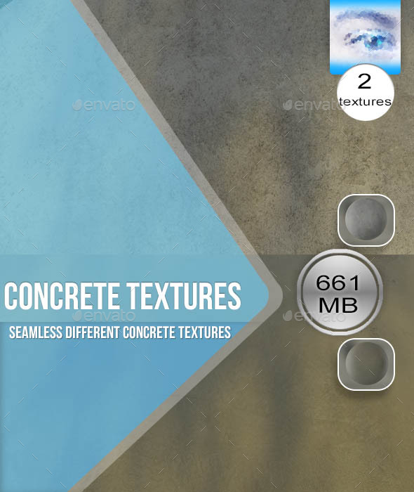 Two Seamless Concrete Textures