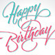 'Happy Birthday' Hand Lettering (vector) - GraphicRiver Item for Sale
