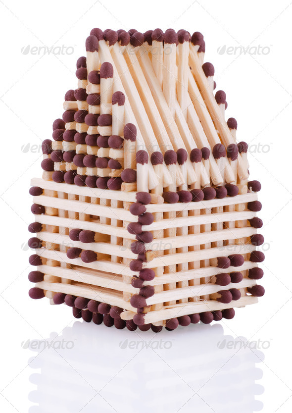 house from matches - Stock Photo - Images