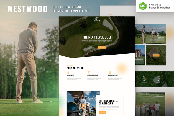 Westwood – Golf Club & Course Elementor Template Kit