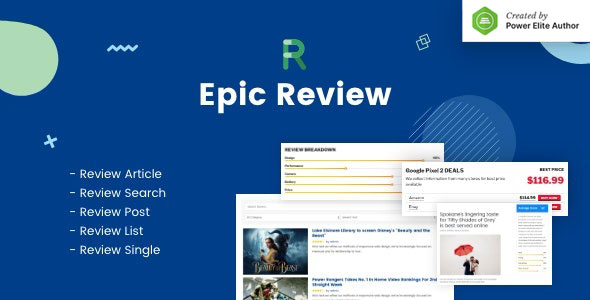 Epic Review WordPress Plugin & Add Ons for Elementor & WPBakery Page Builder