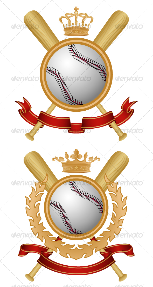 Baseball Coat of Arms - Sports/Activity Conceptual