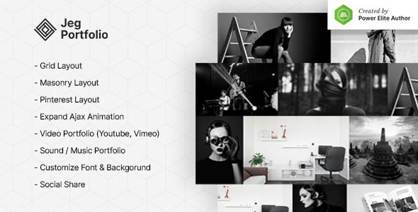 Jeg Portfolio - Responsive Portfolio & Gallery Plugin For WordPress