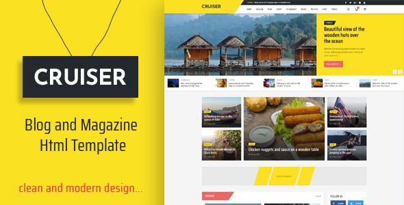 Cruiser – Blog and Magazine HTML Template