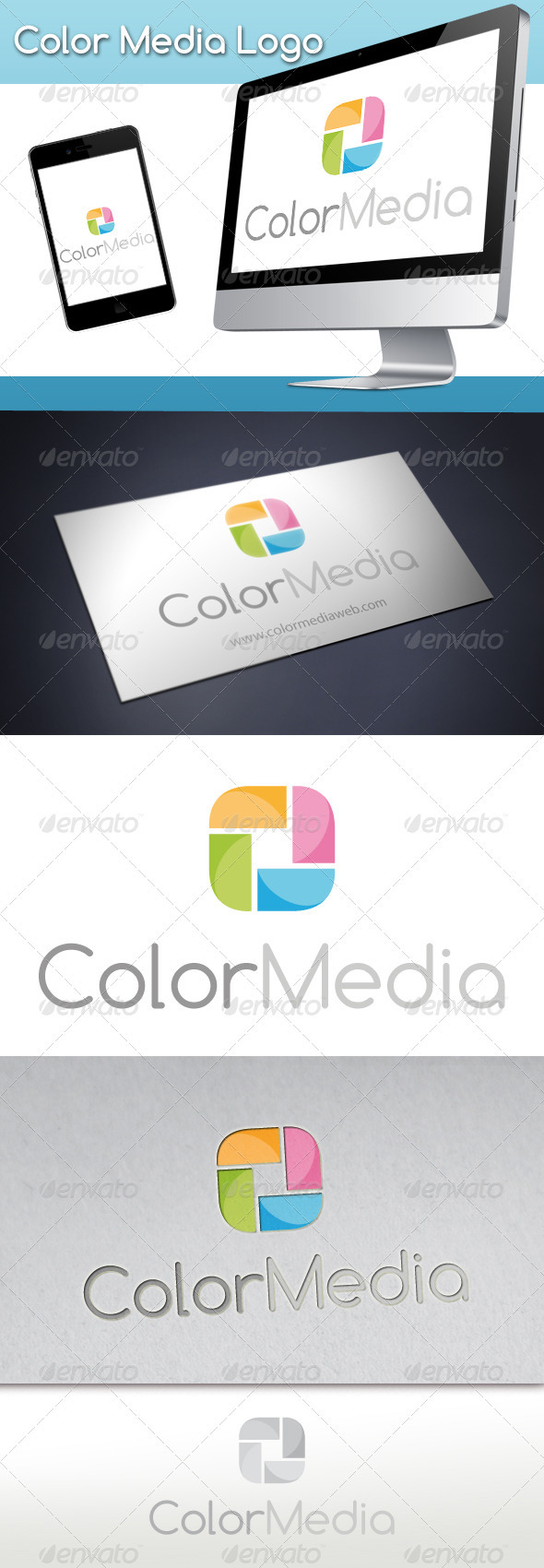 Color Media Logo - Vector Abstract