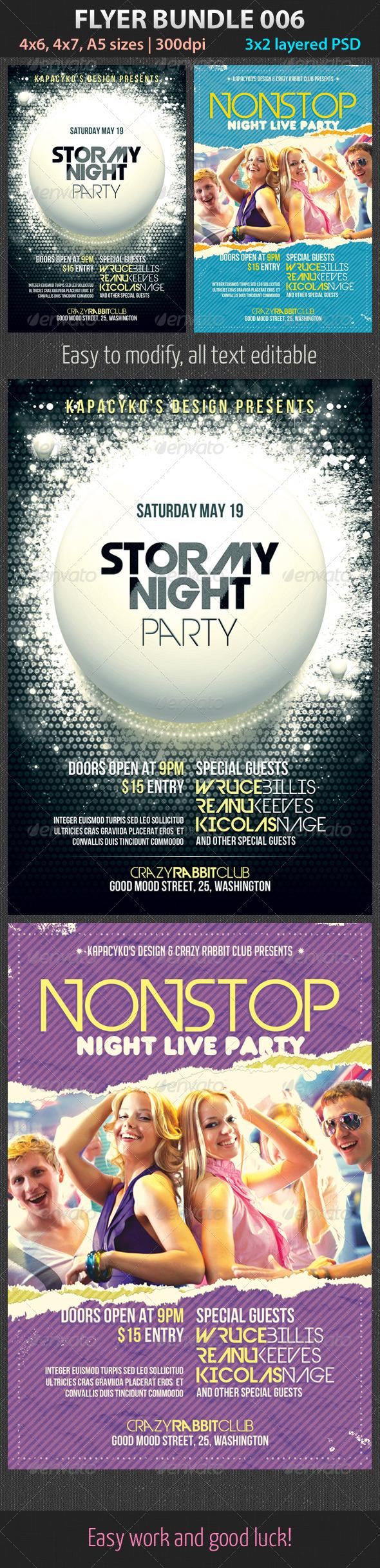 Flyer Bundle 006 - Clubs & Parties Events