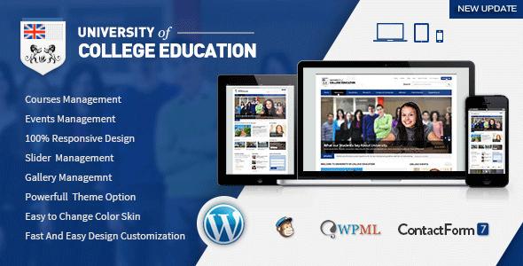 University   Education Responsive WordPress Theme