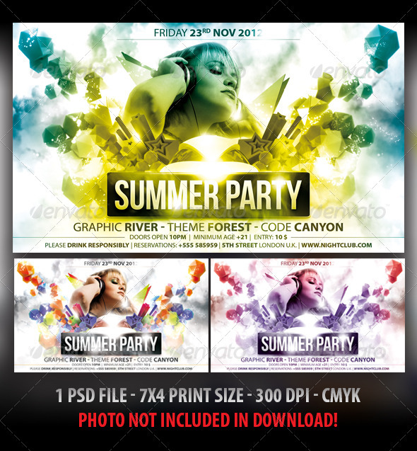 summer colors party flyer by fadeink graphicriver