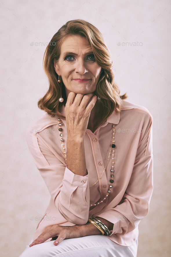 Mature lady - Stock Photo - Images