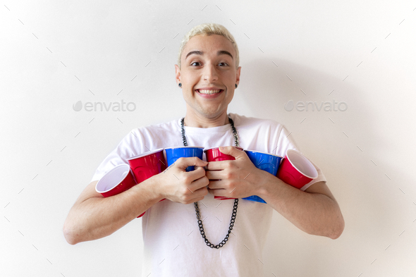 Party drinking games - Stock Photo - Images