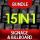 Pro Design Signage & Billboard Bundle - 15 in 1