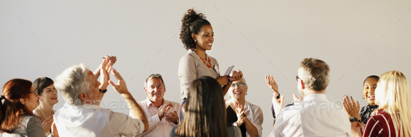 People in a support group - Stock Photo - Images